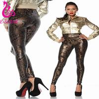 edd2e2e136b Cheap Plus Size Gold Metallic Leggings