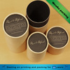 round recycled cardboard paper tube packaging for coffee beans/ cocos