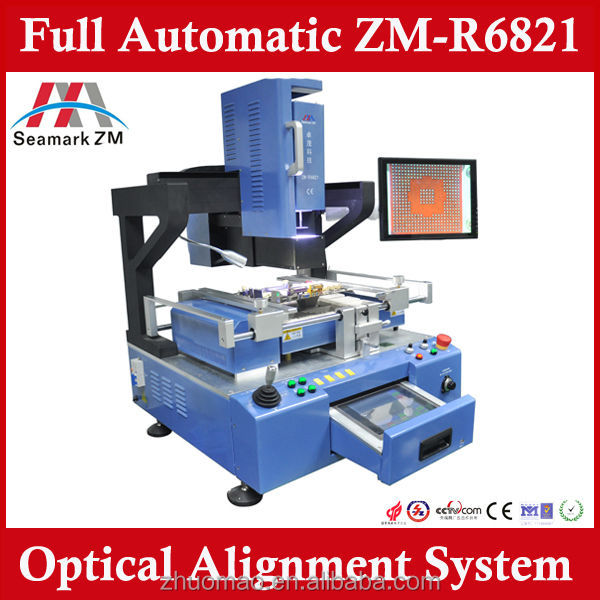 Professional rework station repair bga chip machine ZM-R6821 PCB/repair solution bga reballing tool