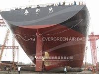 Fishing ship launching marine airbags
