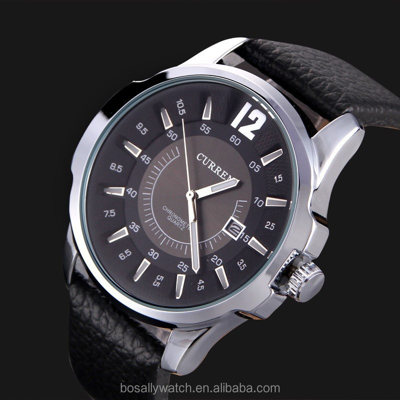 High quality curren watch for <strong>men</strong> low price wholesale customs japan movt diamond quartz watch