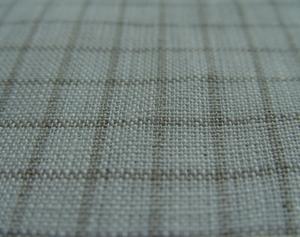 100% Organic Linen Natural/White Fabric Wholesale