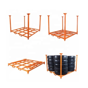 Guangzhou Professional Supplier Convenient Tyre Storage Stacking Steel Rack for Warehouse