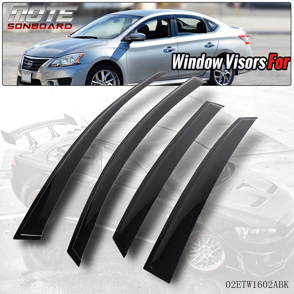 Generic Window Visor Shade Visors Rain Guards For Nissan Sentra 13-15 4  Door Sedan 7ebe92d7f72