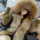 2019 Alibaba Stock Custom Real Raccoon Fur Lined Parka / Women Autumn Winter Fur Coat