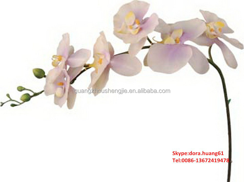 SJH122528 artificial orchids wholesale Single stem phalaenopsis cut phalaenopsis orchids
