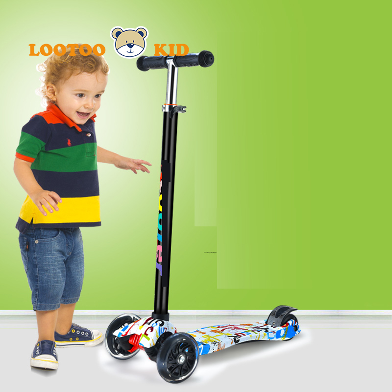 China cheap price outdoor toy 4 wheels kids kick twisting scooter