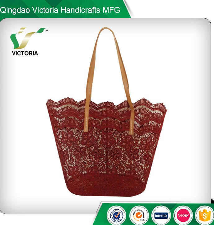 alibaba china supplier womens lace hand bags