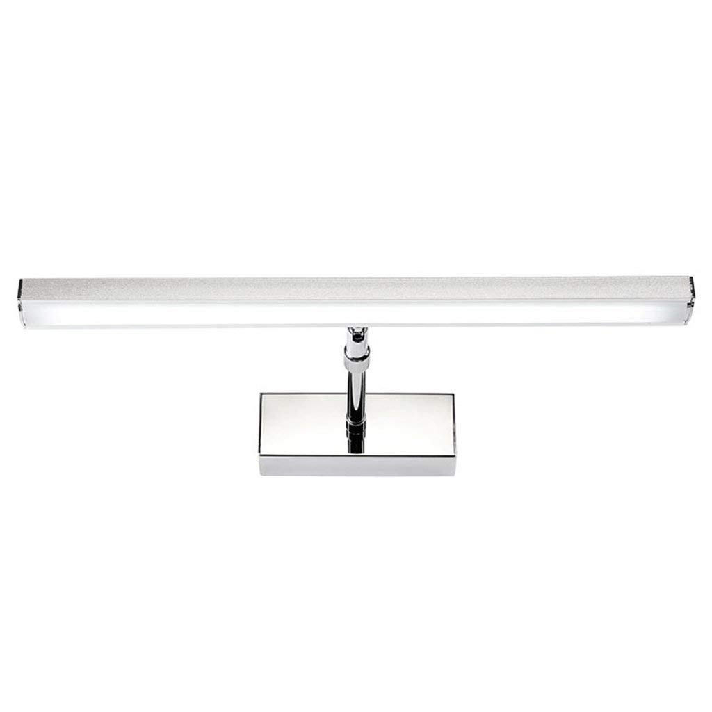 Hines 8W 41CM Bathroom Led Mirror Front Light LED Stainless Steel Wall Mounted Make-up Bathroom Lights AC Modern Wall Lamps (Color : White light)