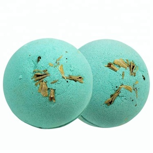 Custom Relax Handmade Lushing Bubble Fizzies Bath Bomb with Dry Flower