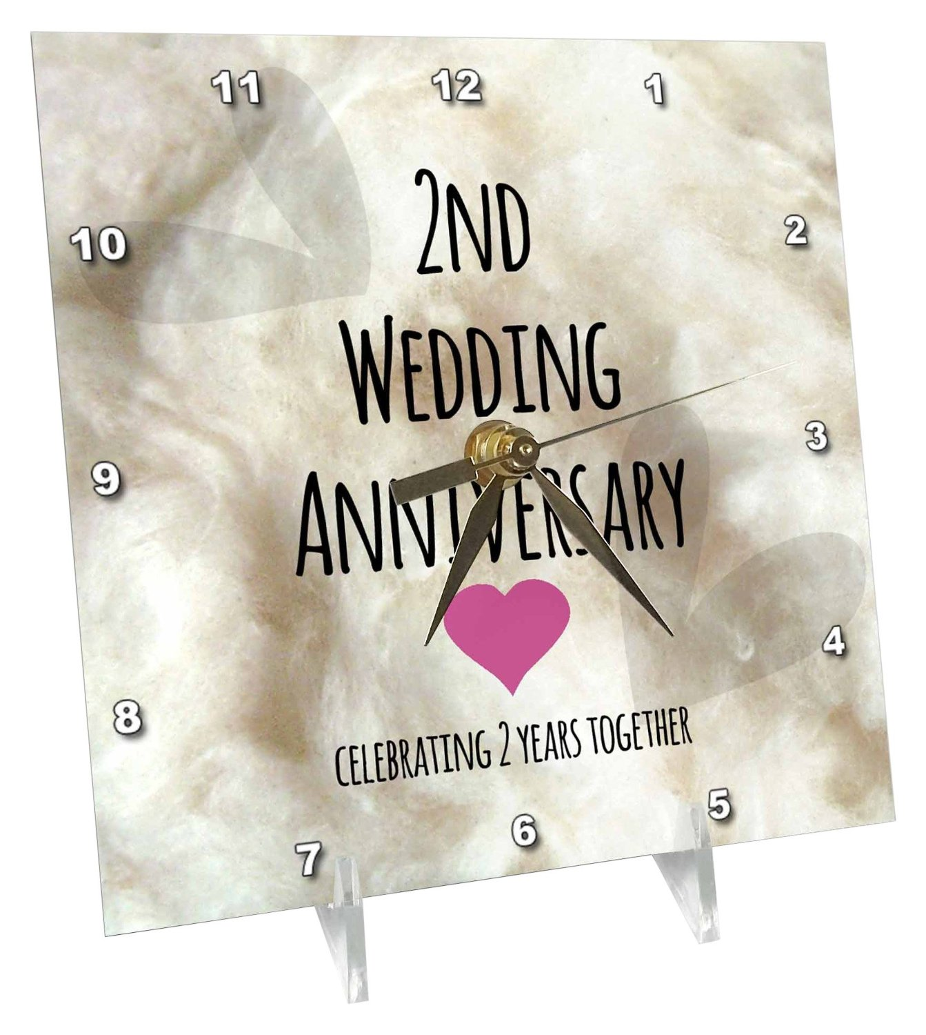 Buy 3drose 2nd Wedding Anniversary Gift Cotton Celebrating 2 Years Together Second Anniversaries Two Yrs Desk Clock 6 By 6 Inch Dc 154429 1 In Cheap Price On Alibaba Com