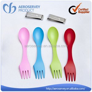 High quality multifunction colorful disposable 2 in 1 plastic decorative tea spoon