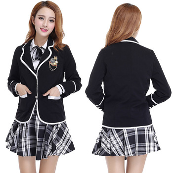 fef49e0e9 China supply Custom high quality model of middle school uniform design for  Girls and Boys