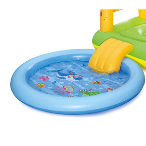 Gator Play Center Inflatable Kiddie Spray Wading Pool with Slide