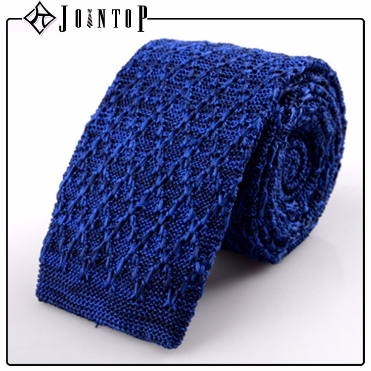 wholesale straight cut end cheap point knit tie
