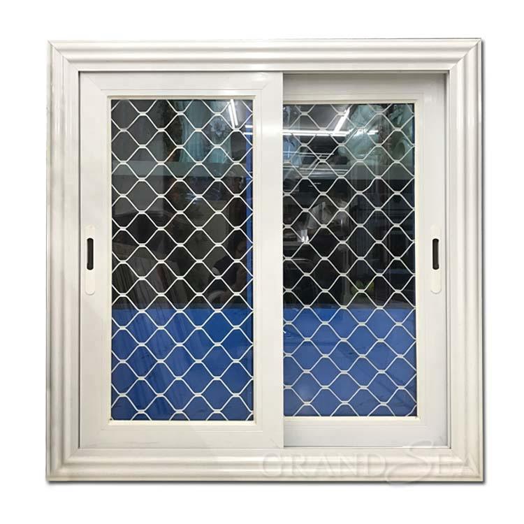 Modern house aluminium sliding window grill design