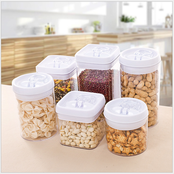 Canisters With Locking Lid / Food Storage Container, BPA Free Plastic  Canisters For Dry