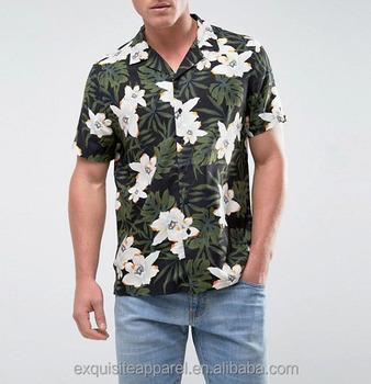 Mens Tropical Print Haiwaiian Customized Wholesale Cheap Button Up Summer  Shirts - Buy Custom Button Up Shirt Design,Custom Men Button Up Shirt,Cheap
