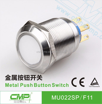 cmp 22mm metal colored push button switch with led indicator lightcmp 22mm metal colored push button switch with led indicator light ip67