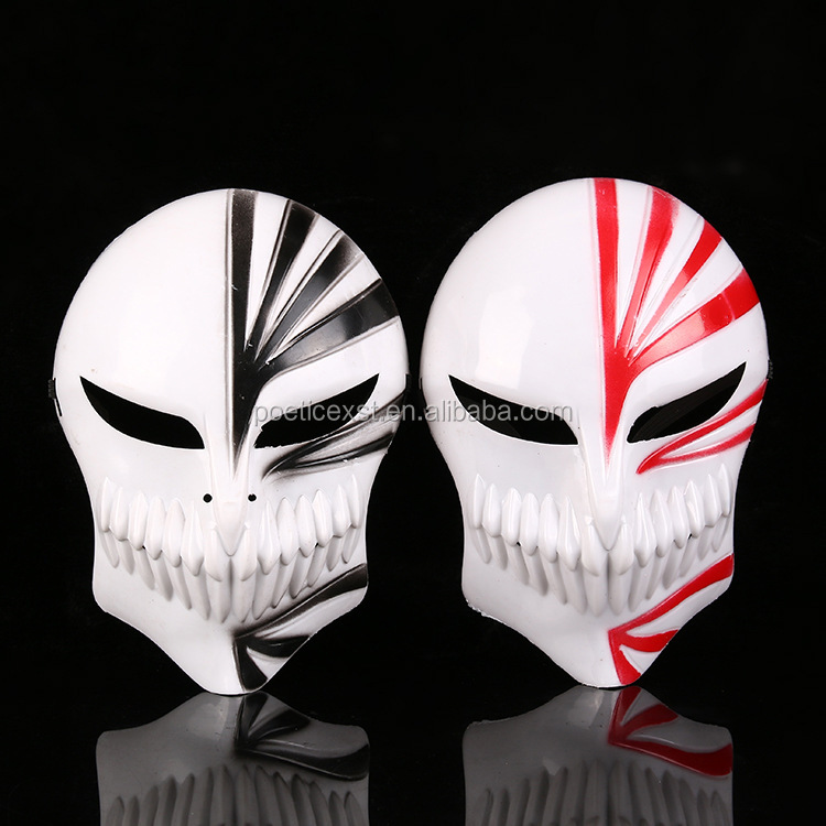 2 colors cartoon Bleach mask Cosplay party full face eco-friendly plastic masks