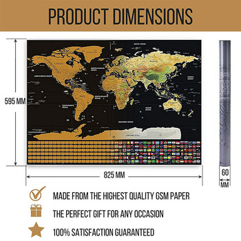 Factory Directly Sell World Scratch Off Map Usa Poster - Buy World ...