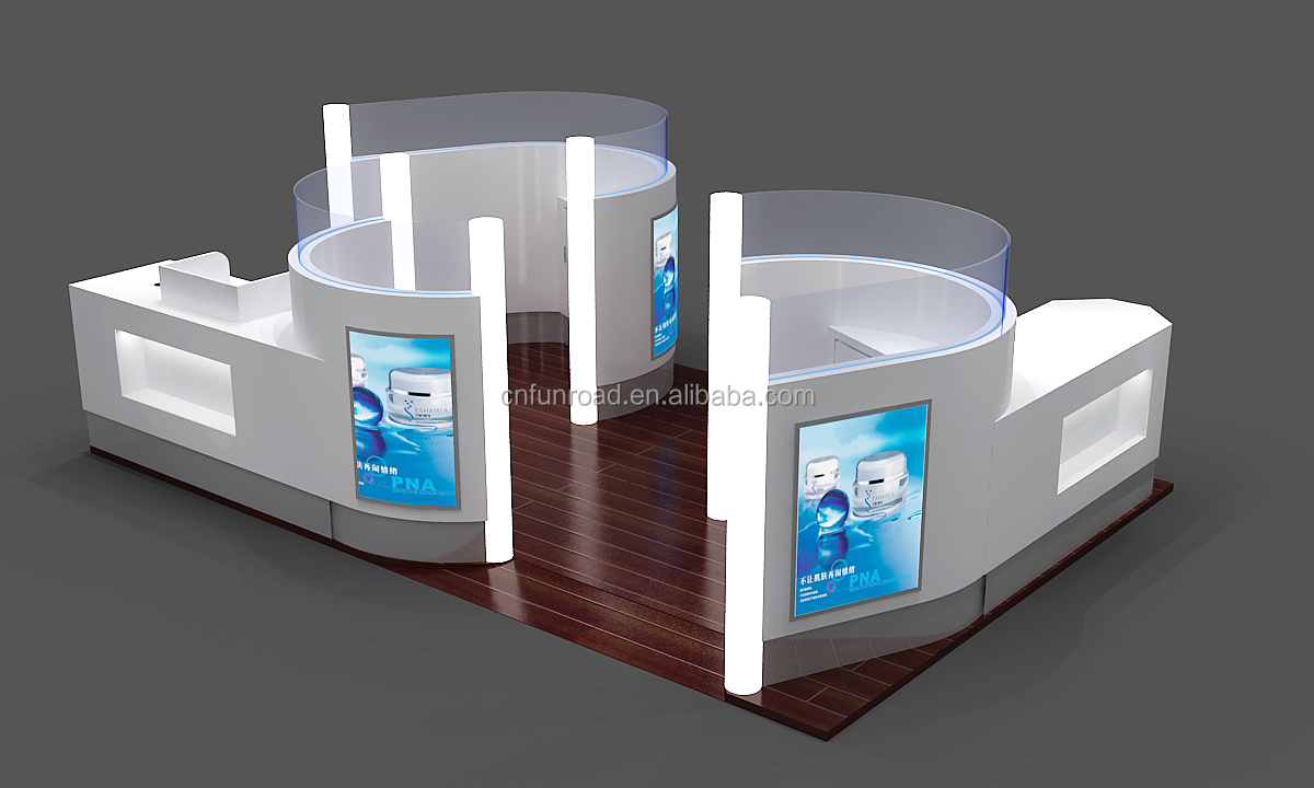 Factory Custom Teeth Whitening Mall Kiosk Display Showcase for Sale