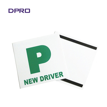 Two magnetic strips new driver p plates car sticker