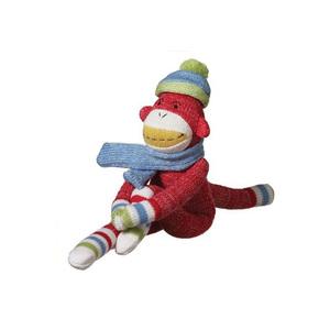 Sock Monkey Toyfree Stuffed Knit Monkey Toyhigh Quality Big Mouth Knit Monkey