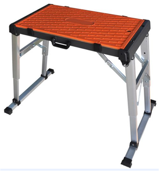 Professional Manufacturer Portable 2 In 1 Folding Aluminum Work Bench,  Metal Work Platform,outdoor