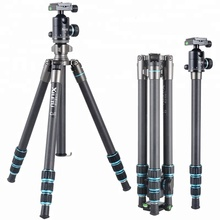 XT-264C+T1Carbon Fiber Portable Lightweight Tripod with Ball Head Compact Travel For Canon Sony Nikon Cameras And Video Camera