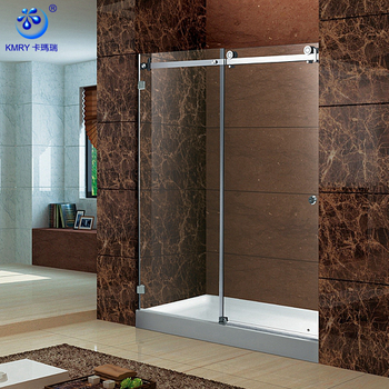 Lowest Cost Premium Quality Custom Printed Framed Stylish 2 Panel Bath Shower Screens (KD8113-AU)