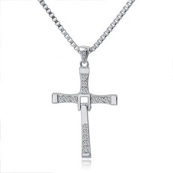 4f063a3c79a Mode Cinéphiles Pendentif Croix En Argent Pour Homme et Femme En Gros  Bijoux Catholiques