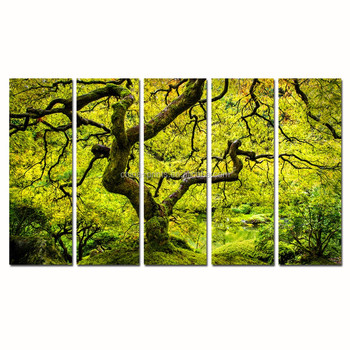 Maple Tree Canvas Wall Art/spring Japanese Landscape Canvas Painting ...