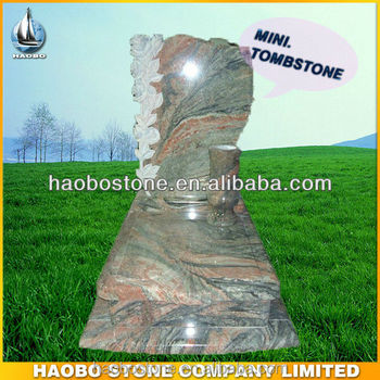 Natural Stone Rose Tombstone With Vase For Cemetery Buy Granite
