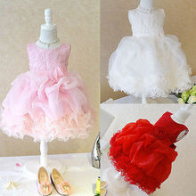 font b Fancy b font Baby Girls Tulle Flower Bridesmaid Gown Party Wedding font b