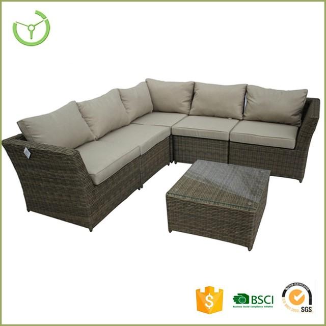 l shape outdoor rattan garden furniture uk