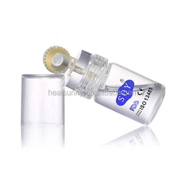 Rolo de titânio microneedle hydra 64 192 dicas de ouro garrafa de rolo derma para soro de ácido hialurônico