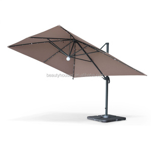 Outdoor Patio Side Post Roman Solar LED Parasol