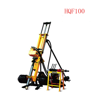 Easy Operation Electric 7.5kw Air Compressor With Crew Compressor. Crawler Mounted Soil Sample Portable Dth Hammer Drilling Rig