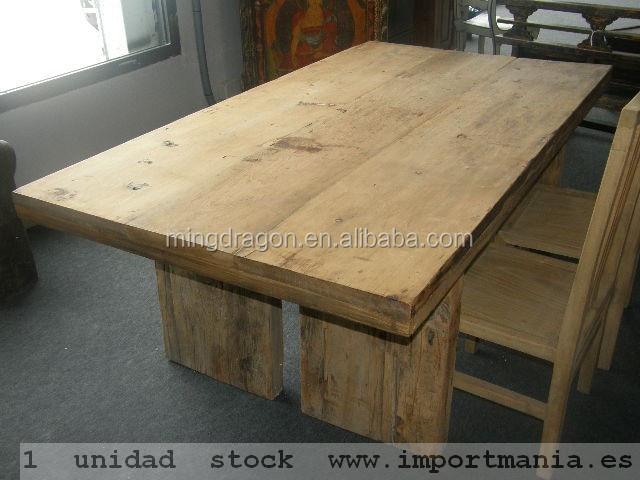 Reciclar muebles madera mesa comedor antig edades de - Reciclar muebles de madera ...