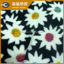 changshu 100 polyester knitted printed flannel fabric for baby product