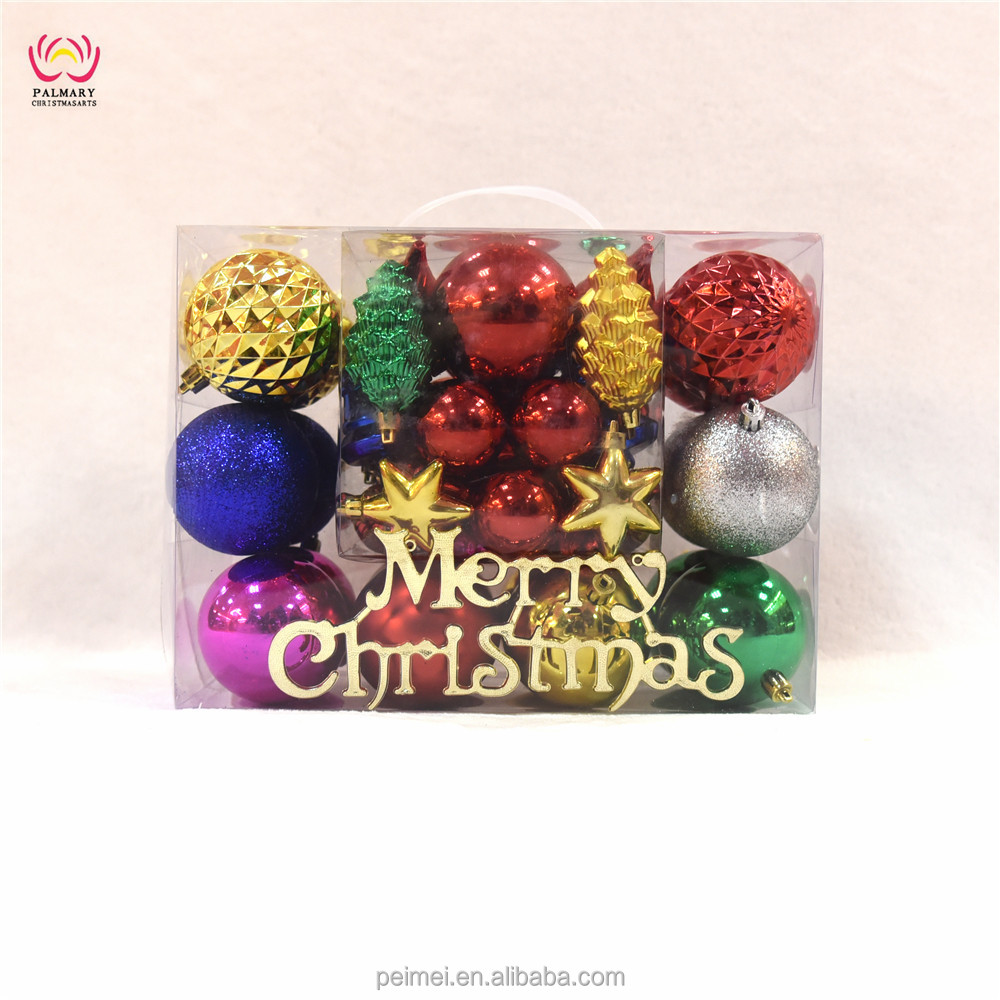 50pcs/set Christmas Tree Ball set Bauble Hanging Xmas Party Ornament set Wedding Home Decor Christmas Decoration ball