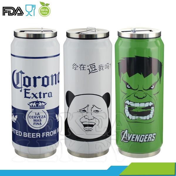 350 Ml Double Wall Soda Can Shaped Stainless Steel