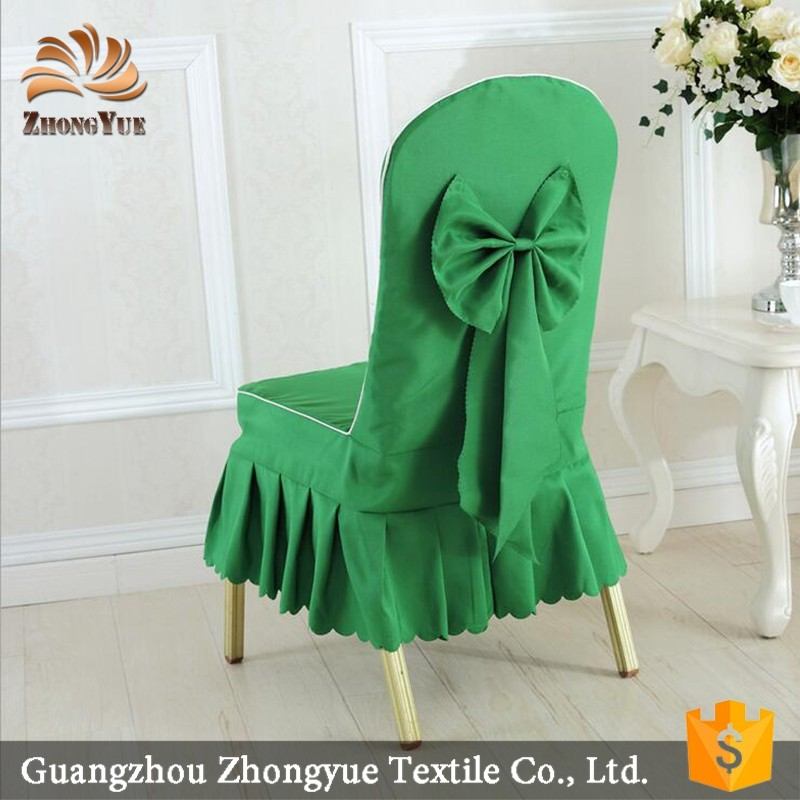 Wedding decoration low price beautiful bowknot banquet chair cover