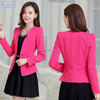 suit jacket spring Slim Blazers Coat New Fashion Casual Long Sleeve One Button up ladies suit design blazer women
