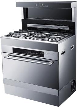 90 Cm Larghezza MISTO Freestanding Stufa A GAS E FORNO ELETTRICO Forno Con  Piano Cottura A