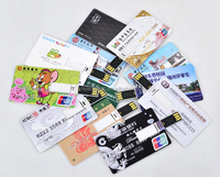 OEM Customized Logo Credit Card USB, Promotional Gifts USB Card, USB Business Card 2GB 4GB 8GB