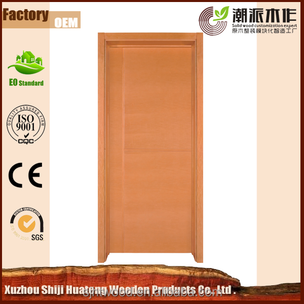 PVC bathroom wood door design