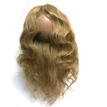 Honey Blonde Color 27 Body wave 360 frontal