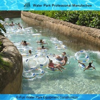Outdoor Water Park Swimming Pool Lazy River With Wave Making Machine